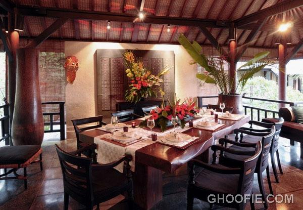 Exotic Second Floor Dining Room Villa Design Ideas