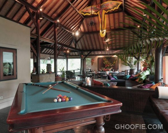 Second Floor Living Room Villa Design Ideas with Pool Table