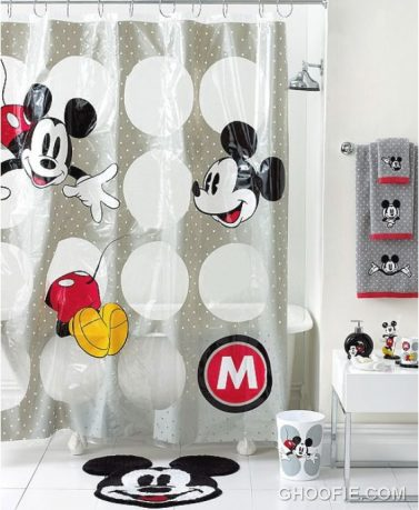 Mickey Mouse Shower Curtain For Kids Bathroom