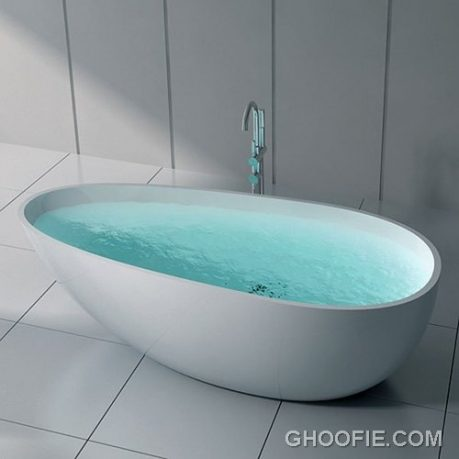 Simple modern bathroom tub