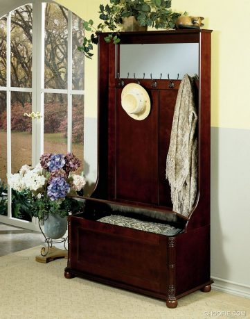 Heirloom Cherry Hall Tree With Storage Bench
