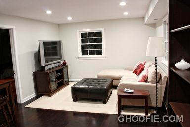 Black and white basement