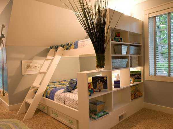 Amazing White Children Bunk Bed