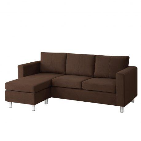 Astonishing Modern Minimalist Brown Color Small Sectional Sofa