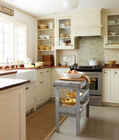 Elegant Small Kitchen Island Ideas Tile Marble Backsplash Traditional Style