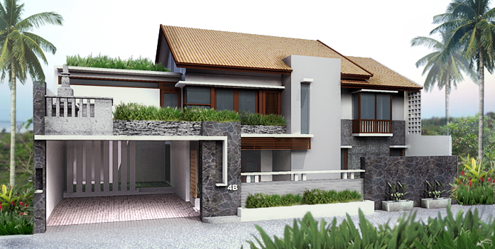 Gorgeous Modern Style Gray Exterior House Design Ideas
