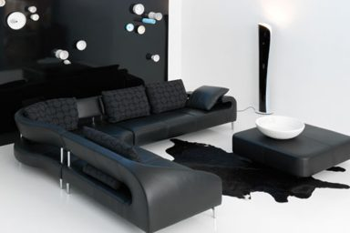 Commercial Office Paint Color Ideas, Luxury Black Leather Sofa Design My Home Deco Mag