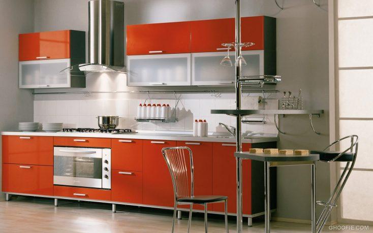Orange Kitchen Cabinet Modern Italian Kitchen Design Small Kitchen Table