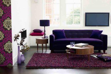 Purple Theme Living Room Look Beautiful With Purple Sofas My