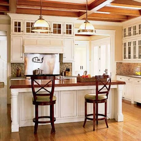 Traditional Wooden Style Cabinets Small Kitchen Island Ideas