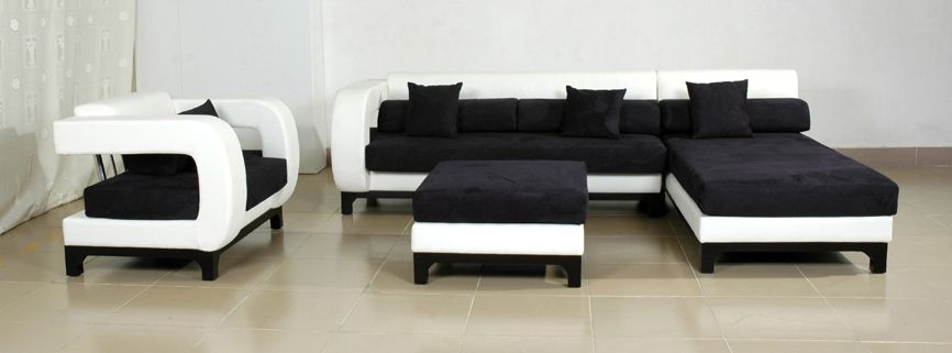 Avella white and black couch sofas - My Home Deco Mag