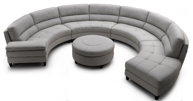 Circular living room couch