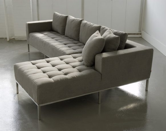 Gray modern living room couch