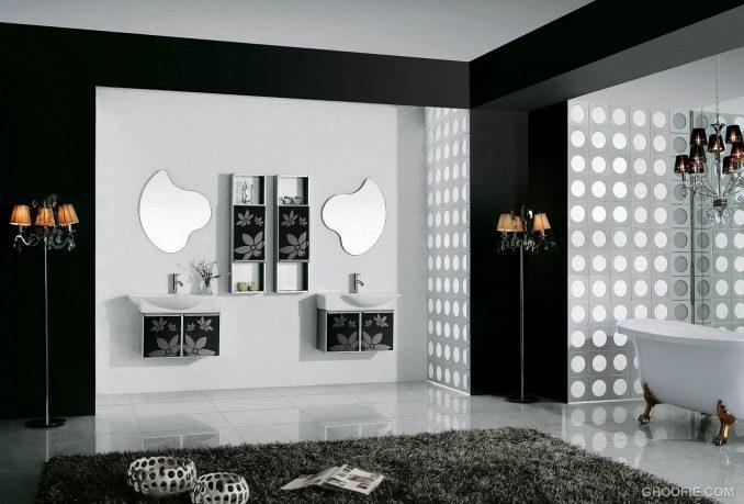 Inspirational Design - black and white bathroom