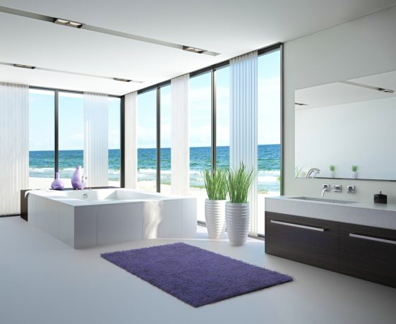Beach house ocean view from bathroom