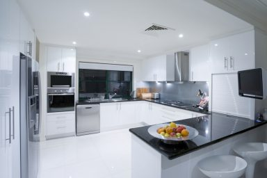 Black and white sleek kitchen designs