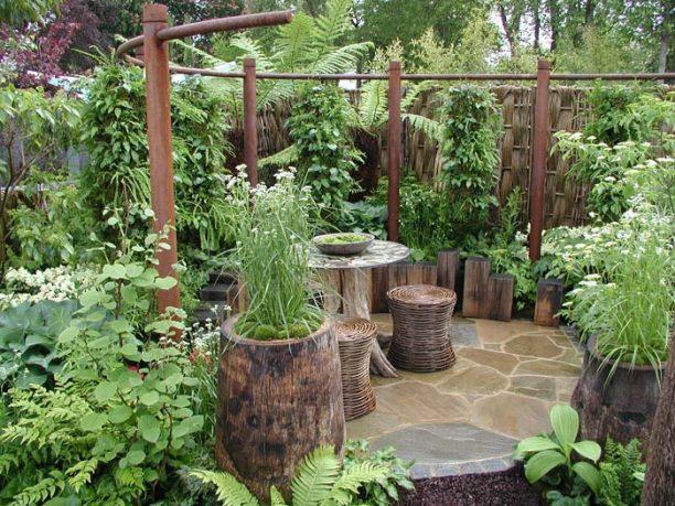 Garden with herbs