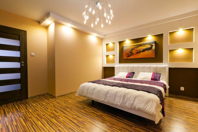 Great lighting master bedroom design