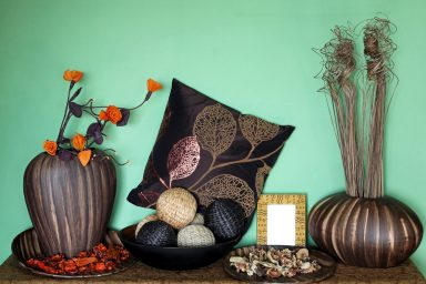 Green brown home decor