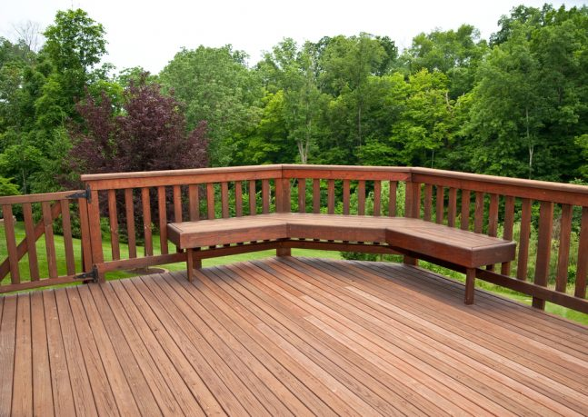 Nice seat on huge deck