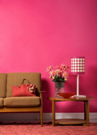 Pink room and pink lamp shade