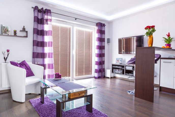 Purple room home decor ideas