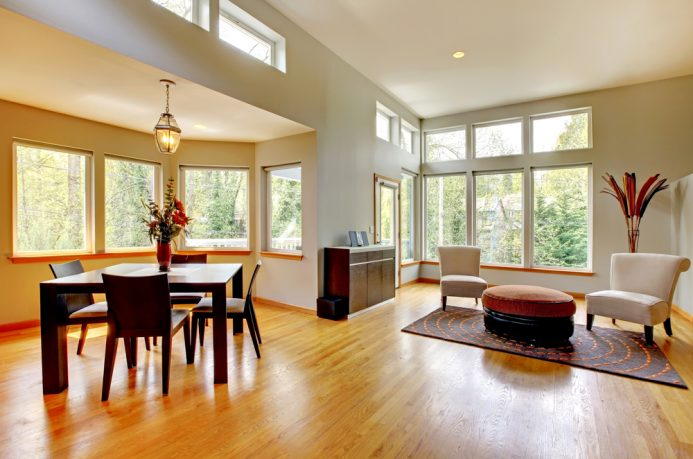 Unique natural light dining room and sitting area