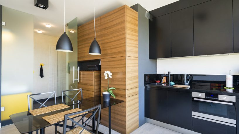 Small apartment kitchen and dining room