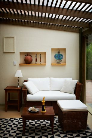 Small outdoor living room