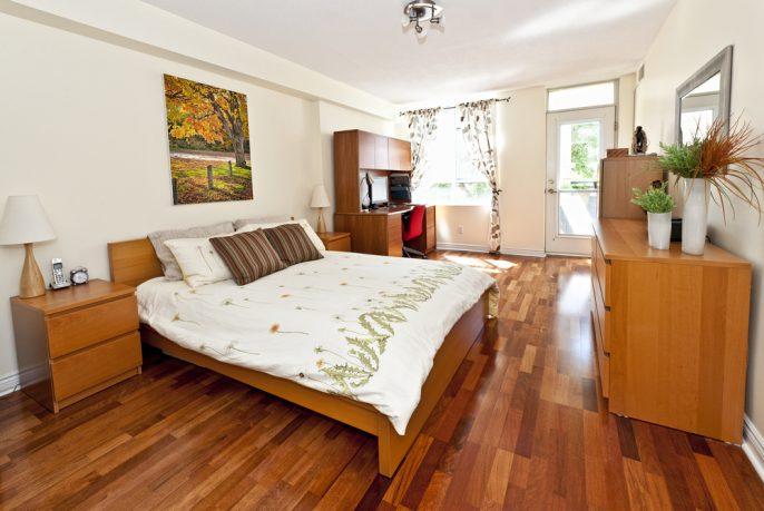 Small wood bedroom