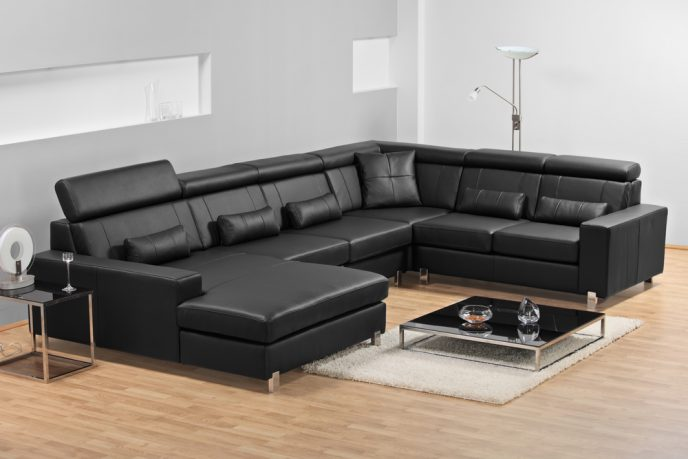 Black trendy sofa