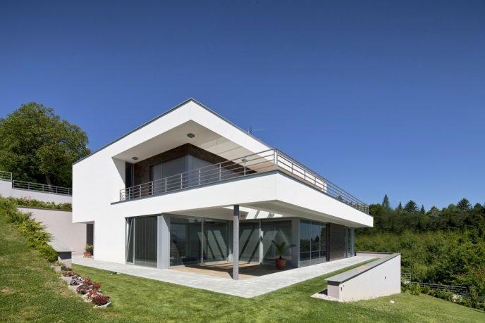 Hillside home with modern feel