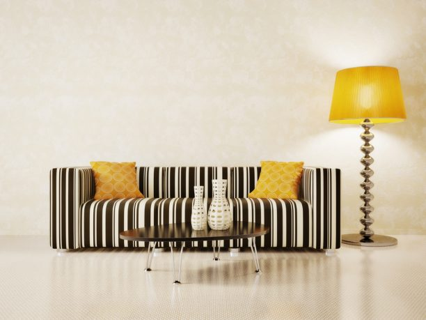 Trendy zebra love seat
