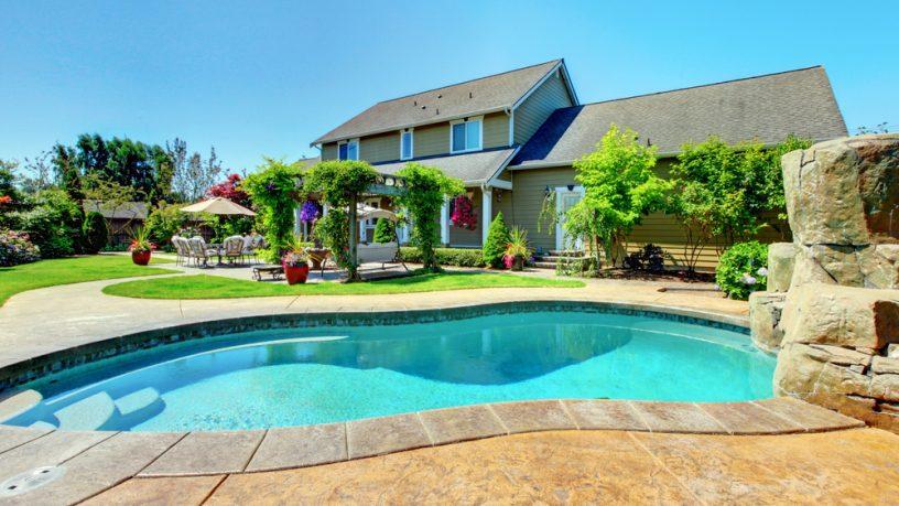 Backyard pool