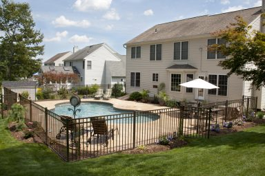 Surburban backyard pool