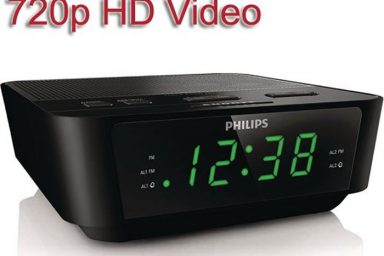 Alarm clock hidden camera