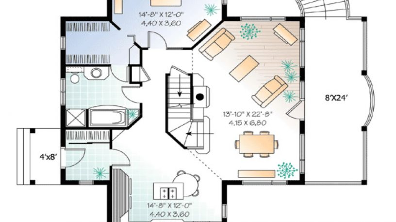 Small house plan - main level