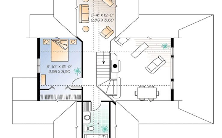 Small house plan - second level