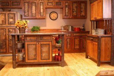 Beautiful rustic kitchen cabinets design