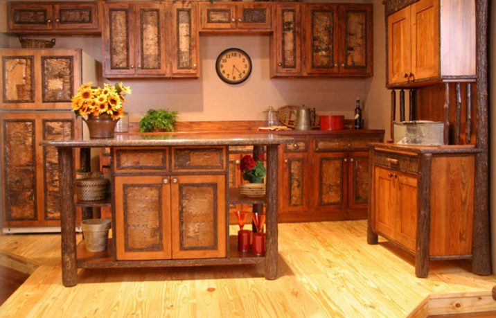 Beautiful rustic kitchen cabinets design