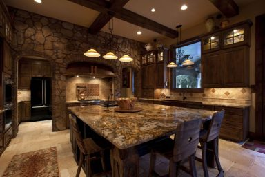 Luxury rustic kitchen