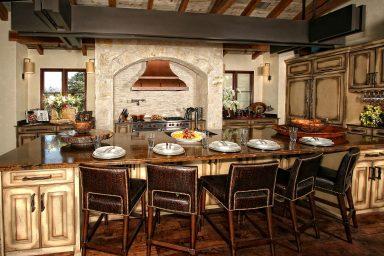 Spanish style rustic kitchen
