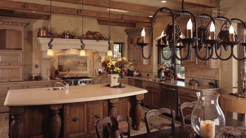 Traditional French rustic kitchen
